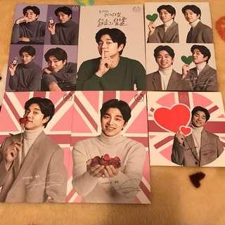 孔劉 Gong Yoo Body Shop 韓國 Postcard 1套5張連貼紙+宣傳扇