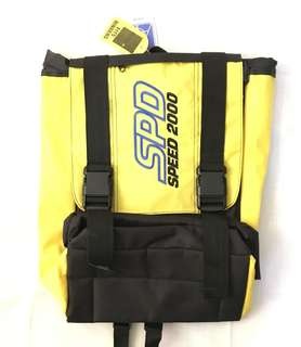 Charity Sale! SPD 2000 Yellow Backpack Strong Quality Hiking Bag School Bag