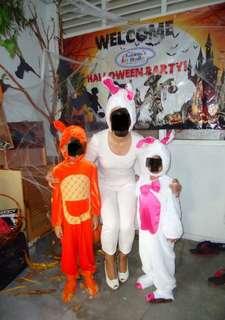 Bunny or kangaroo costume. RM50 each