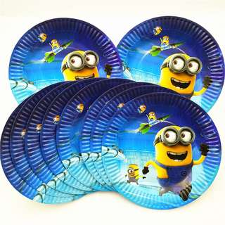 MINIONS 7-inch Plates (Pack of 10)