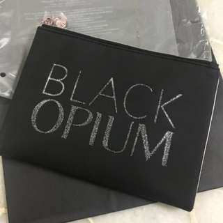 YSL black opium foldable pouch