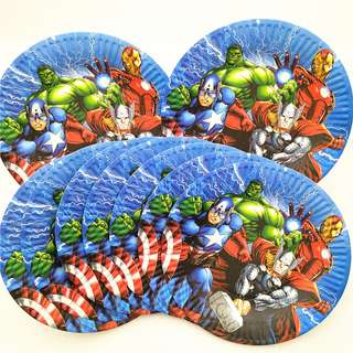 AVENGERS 7-inch Plates (Pack of 10)
