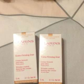 Clarins firming day cream deluxe samples