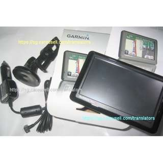 road use GPS: Garmin Nuvi 1460 with box (Sgp Msia Indon Aus NZ maps)