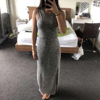 BNWOT Grey Maxi Dress