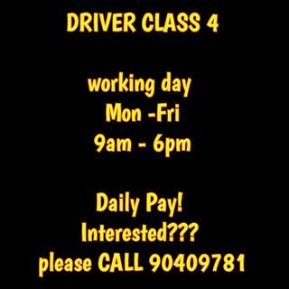 DRIVER CLASS 4 / MOVERS