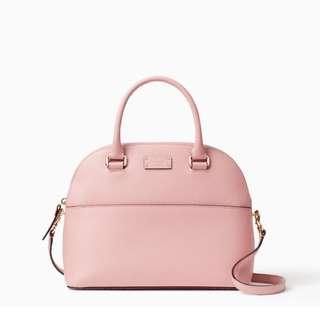 SALE Kate Spade Grove Street Carli Dome Satchel Handbag Slingbag Pink Bonnet