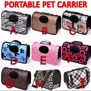 TPE006 Pet Carrier Bag for Small Animals For Cat, Dog, Bird