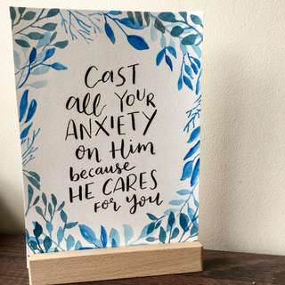 Art Print - Watercolour Lettering - Bible Verse