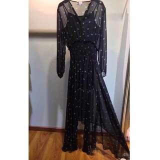 Lanvin Black Chiffon Dress
