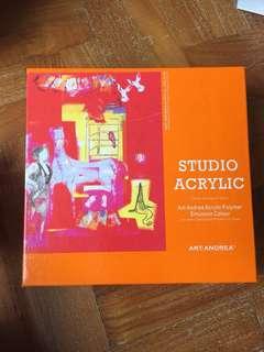 Studio acrylic 12 colour paint