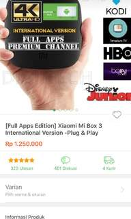 Mi box 3 second (full apps editions