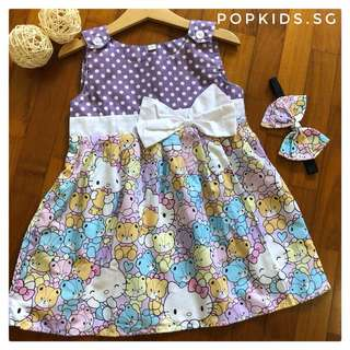 🎀INSTOCK -Hello Kitty Polkadot Dress +Headband 🎀