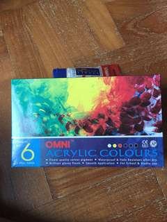 Omni acrylic paint 7 colours ( including gold )