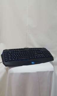 Rii RK500 Gaming Keyboard Blue LED USB Cable