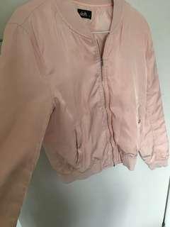 Pink bomber jacket size 10