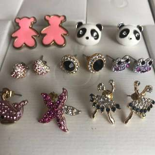 Assorted Costume Jewellery Earrings
