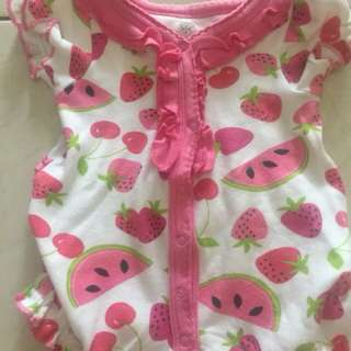 Jumper bayi 0-3bulan motif fruits made in india