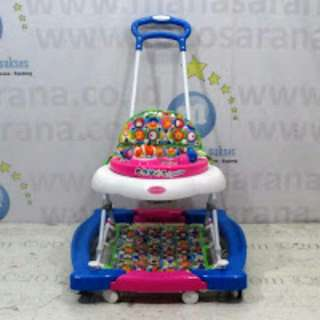 Jabodetabek COD ROYAL RY8688 AquaBlue 2 In One Baby Walker And Rocker