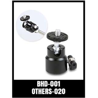 GP MINI BALLHEAD BHD-001 for Digital Camera / Compact DSLR / Cell Phone / Monopod / Gopro
