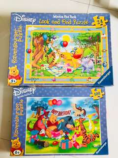 Winnie the Pooh Jigsaw Puzzle - 100 & 24 pieces