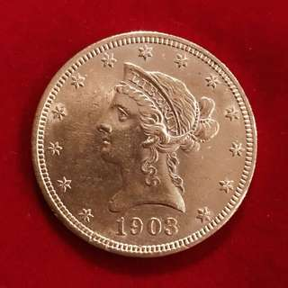US GOLD DOLLAR COIN 1903 (Ten D)