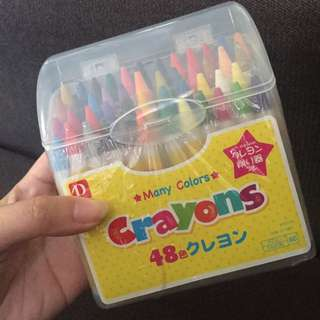RESTOCK!!! Crayons with sharpener 48pcs