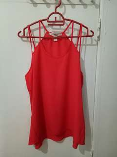 Strappy woven top