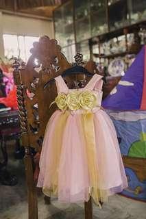Pink & Gold Tutu Dress