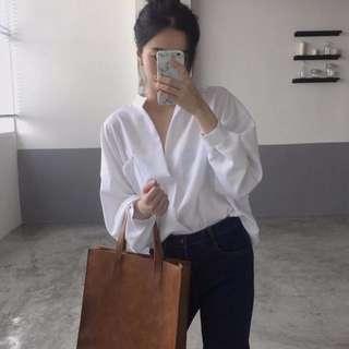 白襯衫 寬鬆襯衫