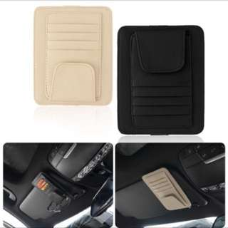 Multifunctional Car Sun Visor Card Holder Oxford cloth Car Storage Card Holder Car Organize Box Card Case Car Interior Accessory