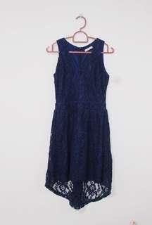 Navy Blue Lacy Dress