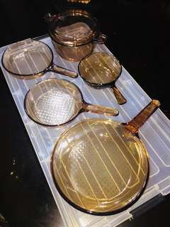 Vision Corning glass Cookingware