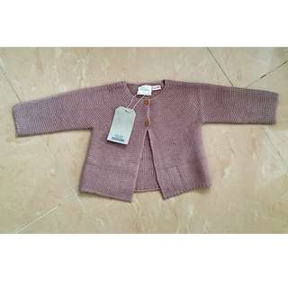 ZARA baby girls cardigan. Size 9-12 months, brand new with tags.