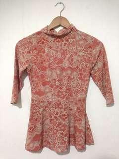 Jual blouse corak oranye