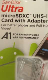 New SanDisk 64GB Micro SD card