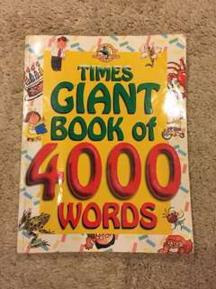 Times Giant Book of words children storybook