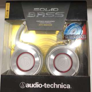 BNIB sealed Audio Technica ATH-W550IS Solid Bass Headphones