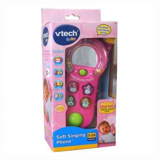 Vtech Pink Soft Singing Phone Baby Girl Learning Role Play Toy