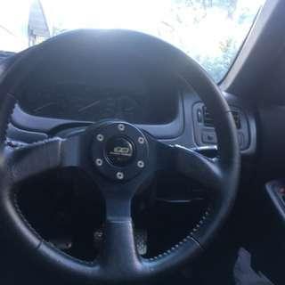 MUGEN steering wheel. rare !!!