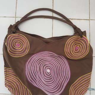 Brown Boho Bag with Details
