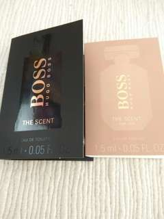 Boss The Scent, him and her, 1.5ml each