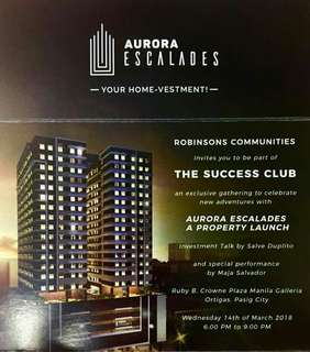 Launching New projects of Robinsons Communities