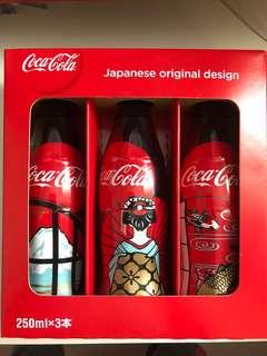 可口可樂 全新 未開封 日本 大阪 Special Edition Coca Cola 珍藏版一套 (250ml x 3) 可