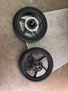 Used Cb125 rims pair