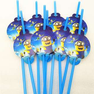 MINIONS Straws (Pack of 10)