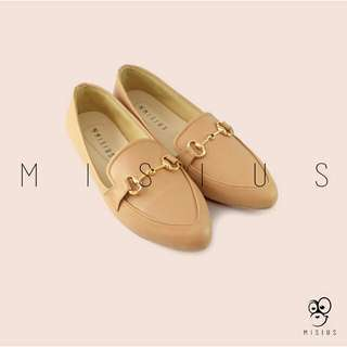 Sepatu wanita misius cerena flatshoes- camel (harga khusus untuk hari ini)