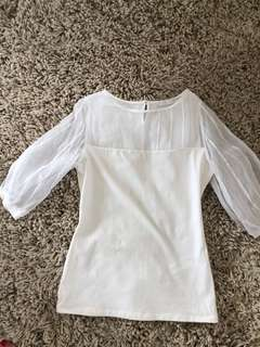 Anne Fontaine white top size 38