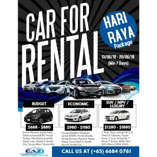 BMW Car Rental - Hari Raya 2018 Package