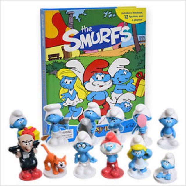 🆕12pc Smurfs Book